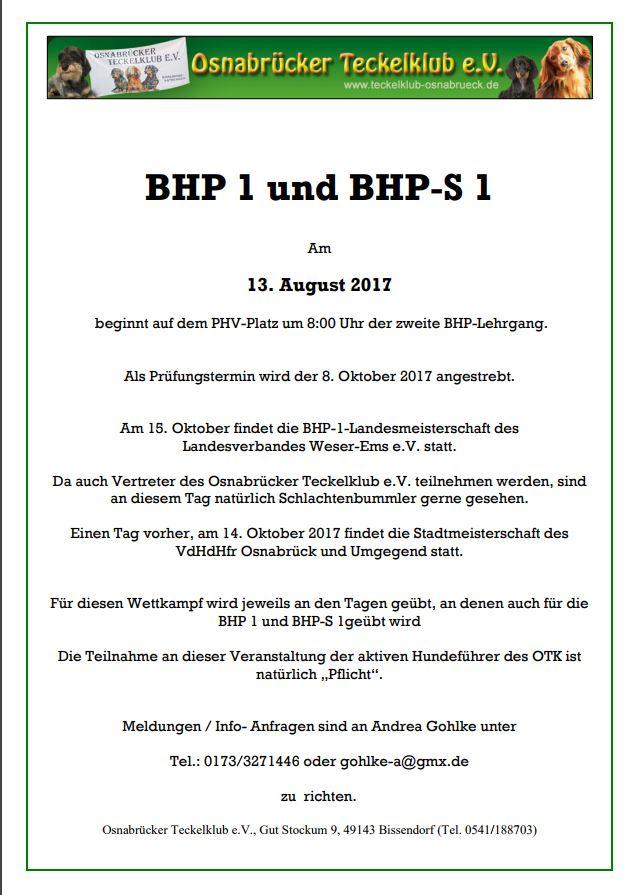 BHP 1 und BHP-S 1