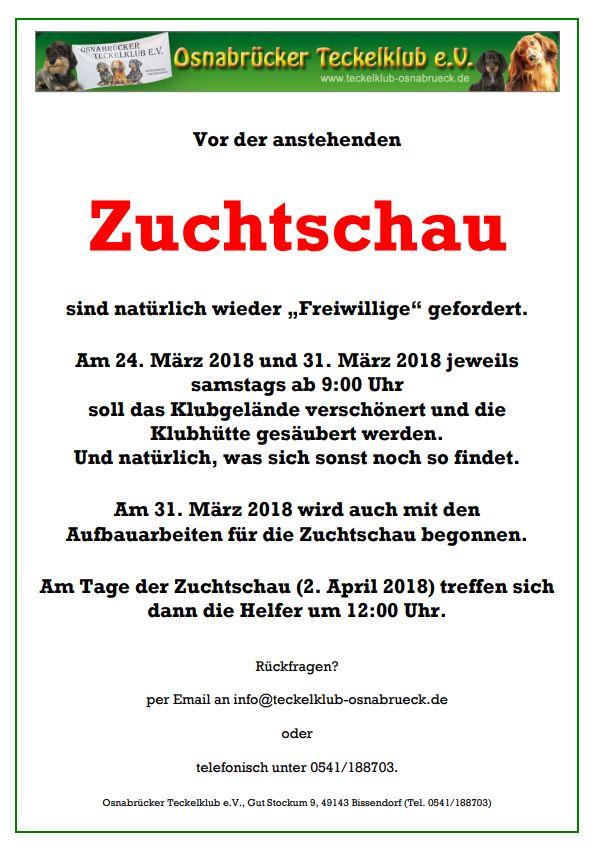 Arbeitseinsatz am 24. und 31.03.2018