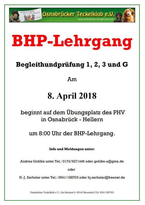 BHP-Lehrgang 2018
